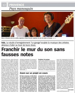 Article de Stylo Blues - La Marseillaise - 08-2014