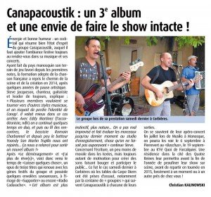 Article de Christian Kalinowski - Haute-Provence Info 08-2014